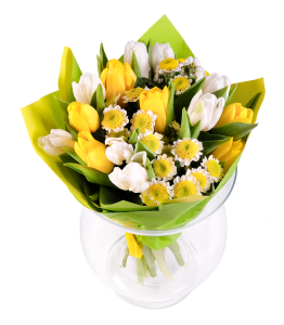 White - Yellow Bouquet