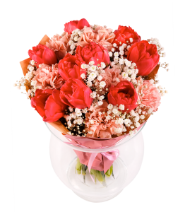 Red - Cream Bouquet