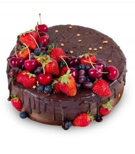 Chocolate Cake with Fruit
