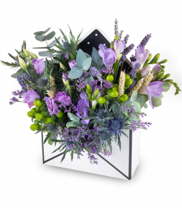 Flower envelope purple