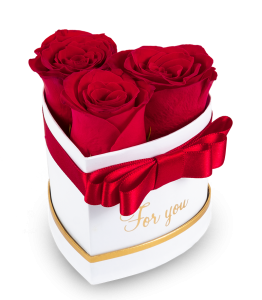 Heart box of roses 3 PC