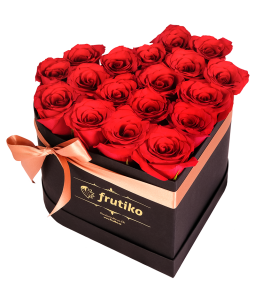 Red Roses Black Heart Box