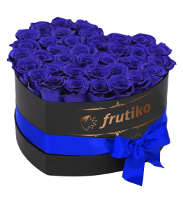 Blue Roses Black Heart Box