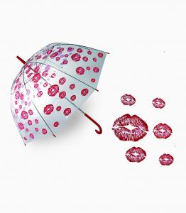 Umbrella with Red Lips