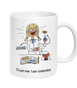Cup Scientist Girl