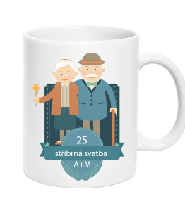 Cup Elderly Couple