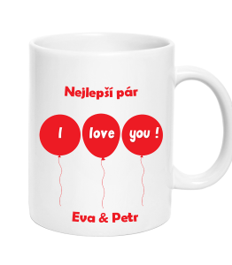 Cup Love You Baloons