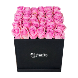 Black Box of Pink Roses