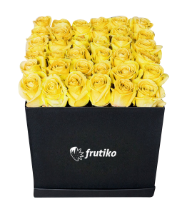 Black Box of Yellow Roses