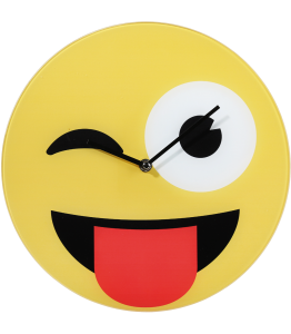 Wall clock emoji tongue out