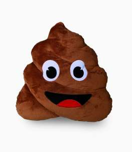 Plush Pillow Emoji Poo