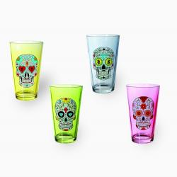 Colored Glass with Skull