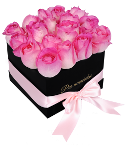 Black Box of Pink Roses For mom