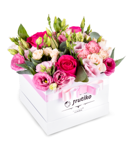 White Box of mix flowers