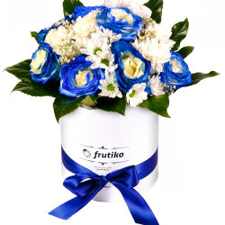 Box of blue roses MIX