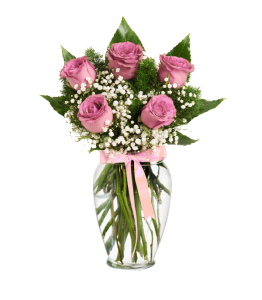 Pink Roses 5/7/9/11/15 pcs with decoration