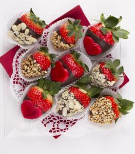 Heart Strawberries mix