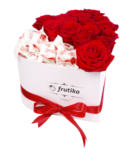 Heart Box Red Rose + Raffaello