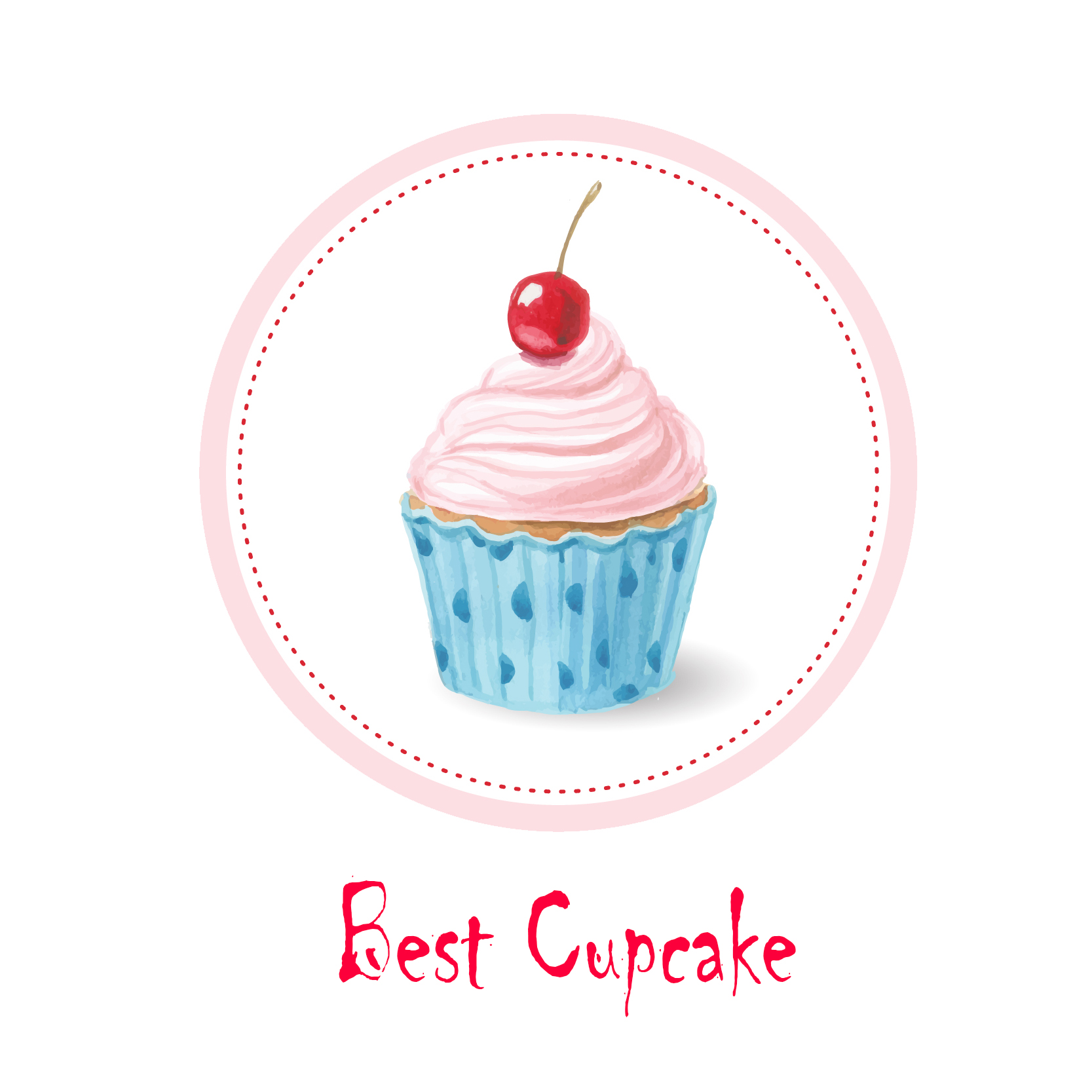 White Apron Image Cupcake With Own Print