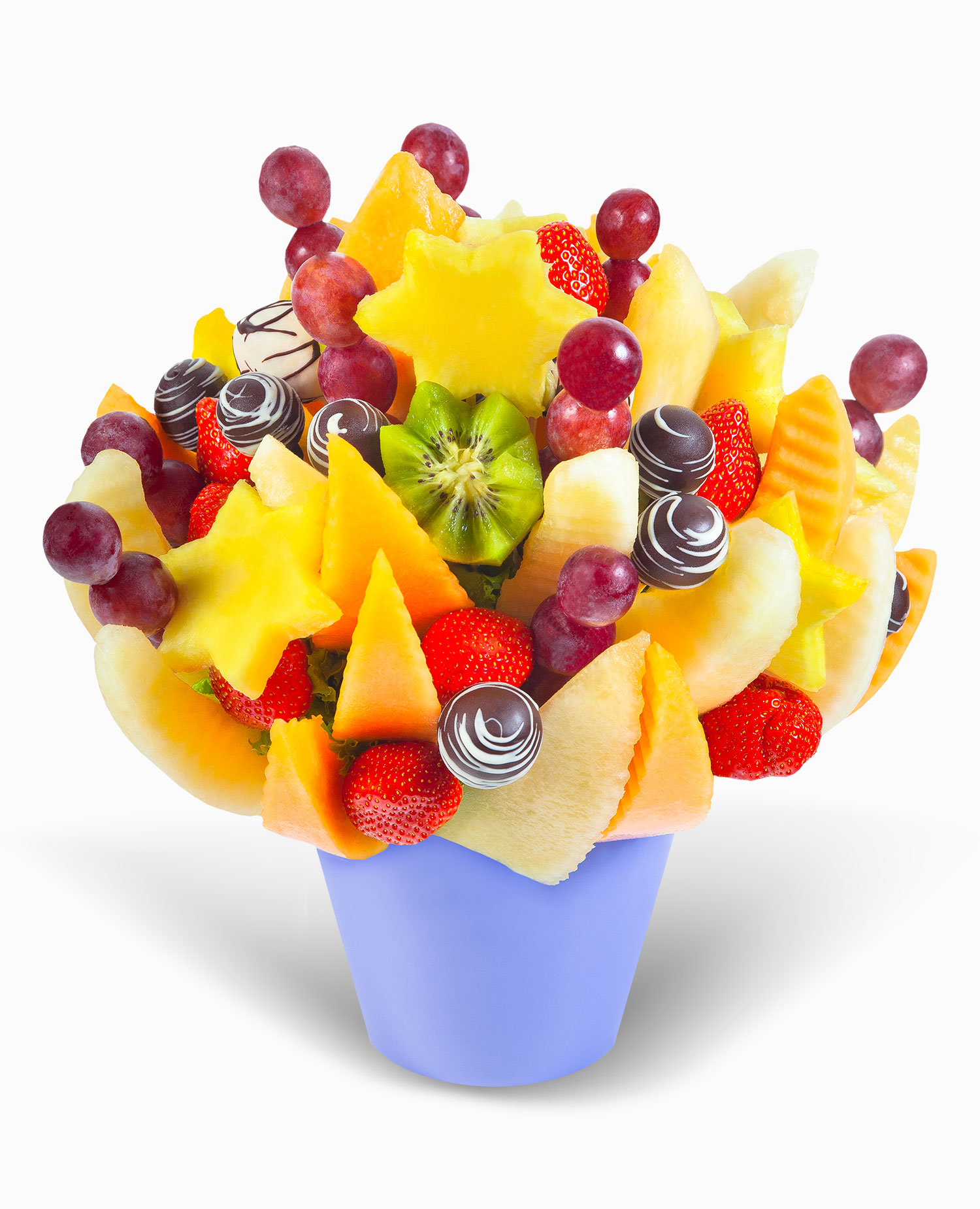 Fresh Love Full Of Fruit On Chocolate Frutiko