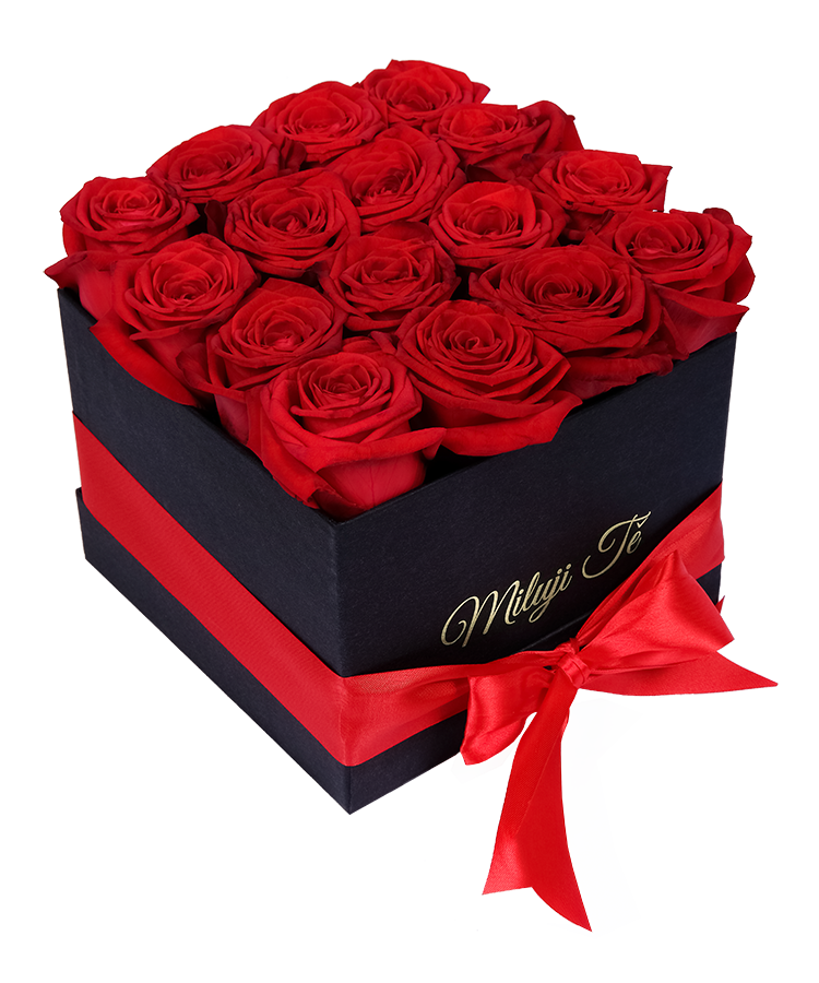 Red Roses In A Black Box I Love You
