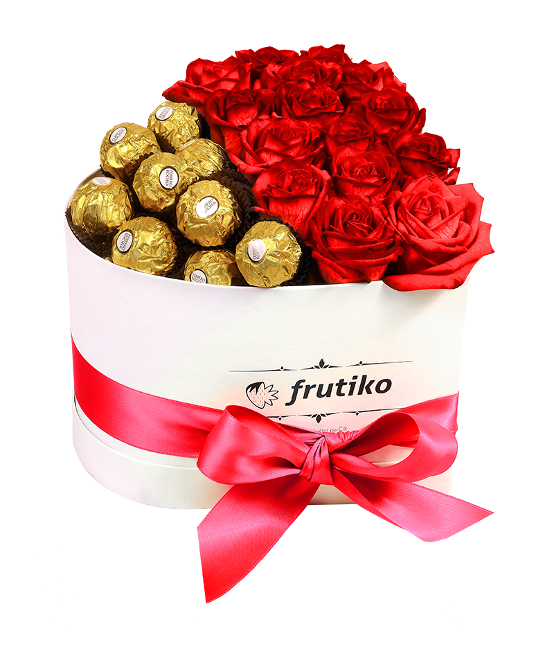 Original birthday gifts and name day gifts heart box red rose ferrero rocher negle Choice Image