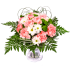 Pink carnations and chrysanthemum