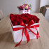 White Box of Red Roses I love you